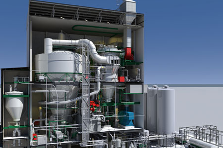 Exemplary 3D model of industrial object made with the use of Bentley software